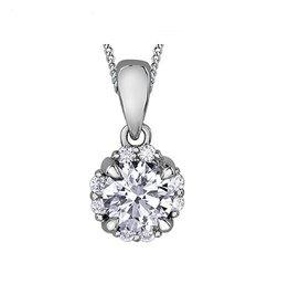 I am Canadian White Gold (0.27ct) Canadian Diamond Pendant