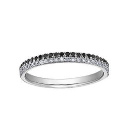10K White Gold (0.25ct) Black Diamond Stackable Ring