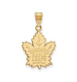 NHL Licensed NHL Licensed (Large) Maple Leafs Pendant Sterling Silver GP