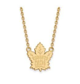 NHL Licensed NHL Licensed Maple Leafs Necklace Sterling Silver GP Large