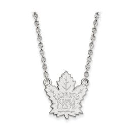 NHL Licensed NHL Licensed Maple Leafs Necklace Sterling Silver Large