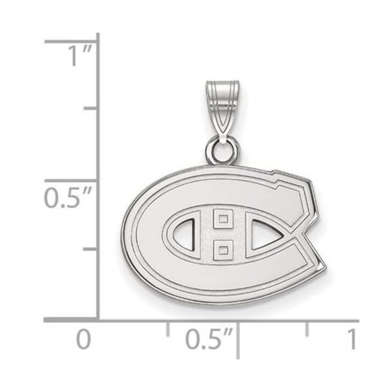 NHL Licensed NHL Licensed (Small) Montreal Canadiens 10K White Gold Pendant
