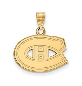 NHL Licensed NHL Licensed (Small) Montreal Canadiens 10K Yellow Gold Pendant
