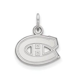 NHL Licensed NHL Licensed (XSmall) Montreal Canadiens 10K White Gold Pendant
