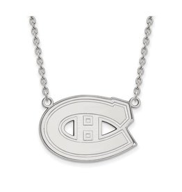 NHL Licensed NHL Licensed (Large) Montreal Canadiens Sterling Silver Necklace