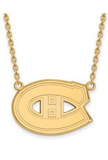 NHL Licensed NHL Licensed (Large) Montreal Canadiens Sterling Silver GP Necklace