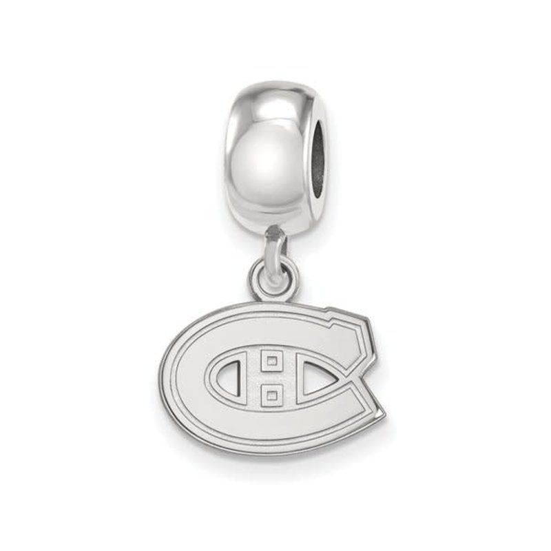 NHL Licensed NHL Licensed Montreal Canadiens Sterling Silver Charm Bead