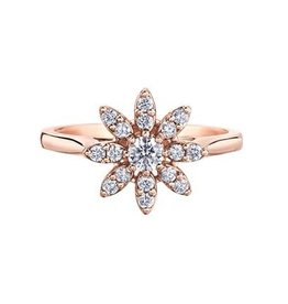 I am Canadian 10K Rose Gold (0.40ct) Canadian Diamond Floral Ring