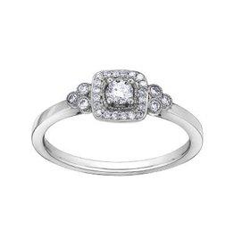 I am Canadian Halo Canadian Diamond (0.23ct) White Gold Ring