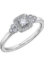 I am Canadian 10K White Gold (0.23ct) Canadian Diamond Halo Engagement Ring