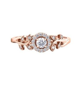 I am Canadian Halo Canadian Diamond (0.25ct) Rose Gold Ring