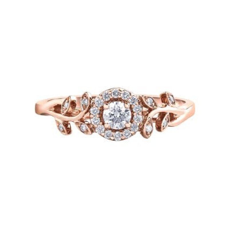 I am Canadian Halo Canadian Diamond (0.25ct) Rose Gold Ring