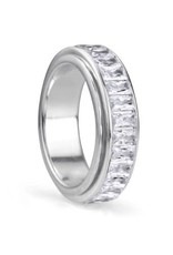 Meditation Ring (Clarity) Sterling Silver with Cubic Zirconia