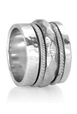 Meditation Ring (Courage) Sterling Silver with Cubic Zirconia