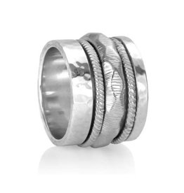 Meditation Ring Courage Sterling Silver Spinning Band