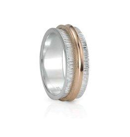 Meditation Spinner Ring (Desire) Sterling Silver with 9KT Rose Gold