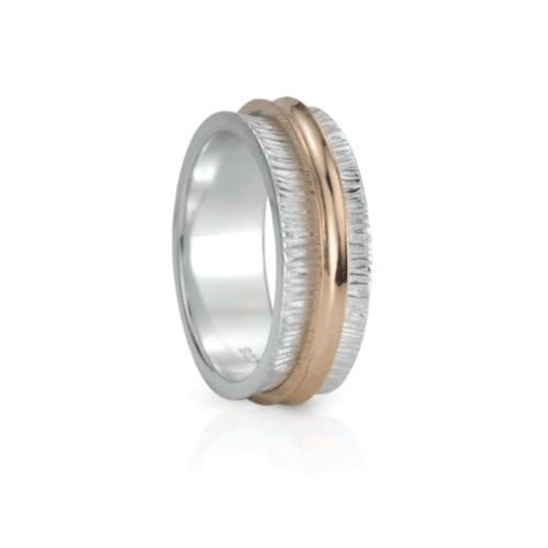 Meditation Spinner Ring (Desire) Sterling Silver with 9KT Rose Gold