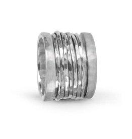 MeditationRings Meditation Spinner Ring (Serenity) Sterling Silver
