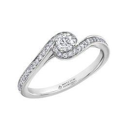 Maple Leaf Diamonds 14K White Gold (0.38ct) Canadian Maple Leaf Diamond Ring