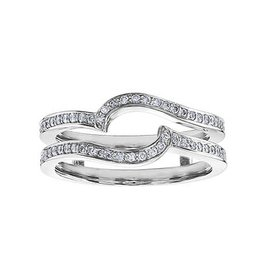 14K White Gold (0.30ct) Diamond Matching Ring Jacket / Enhancer