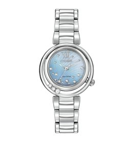 Citizen Citizen L Sunrise Eco Drive Silver Tone Diamond Ladies Watch