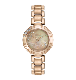 Citizen Citizen L Carina Eco Drive Diamond Rose Tone Ladies Watch