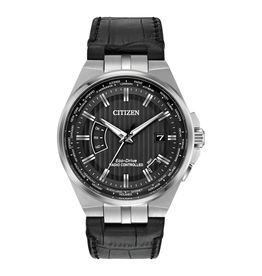 Citizen Citizen World Perpetual A-T Leather Strap Eco Drive Mens Watch