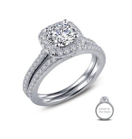 Lafonn Lafonn Silver Joined At The Heart Ring Set with Simulated Diamonds
