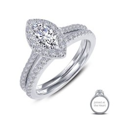 Lafonn Lafonn Silver Joined At The Heart Halo Marquise Ring Set with Simulated Diamonds