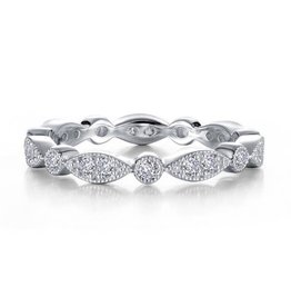 Lafonn Lafonn Silver Timeless Eternity Band Set with Simulated Diamonds