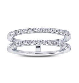 Lafonn Lafonn Silver Jacket Ring Enchancer Set with Simulated Diamonds