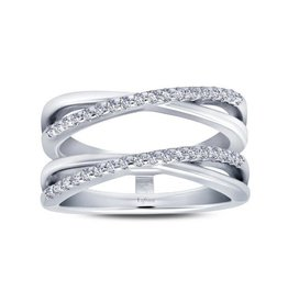 Lafonn Lafonn Silver Jacket Ring Enchancer Set with Simulated Diamonds