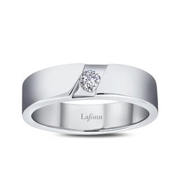 Lafonn Lafonn Silver Mens Ring Set with Simulated Diamond