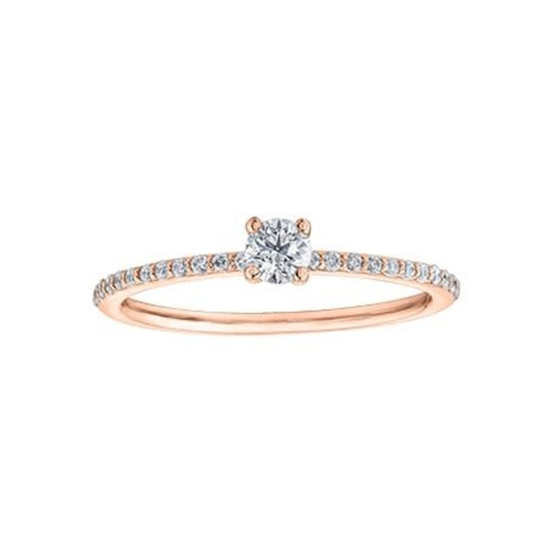 I am Canadian 10K Rose Gold (0.30ct) Canadian Diamond Ring