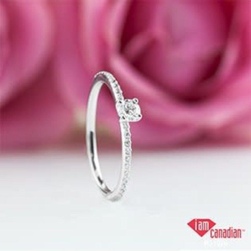 I am Canadian 10K White Gold (0.30ct) Canadian Diamond Ring