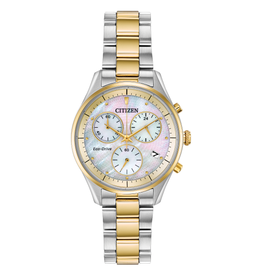 Citizen Citizen Chandler Two Tone Chronograph Mother of Pearl Dial Ladies Eco Drive Watch