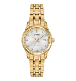 Citizen Citizen Corso Gold Tone with Diamond Dial Ladies Eco Drive Watch