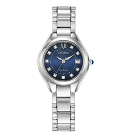 Citizen Citizen Ladies Blue Face with Swarovski Crystals Eco Drive Watch