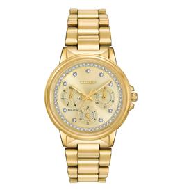Citizen Citizen Silhouette Crystal Gold Tone Ladies Eco Drive Watch