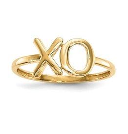 14K Yellow Gold Polished X-O Ring