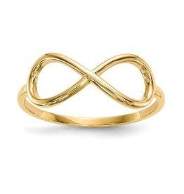 14K Yellow Gold High Polish Infinity Figure 8 Ring