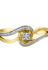 10KYellow Gold (0.17ct) Promise Ring
