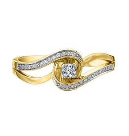 Yellow Gold Promise Diamond Ring (0.17ct)
