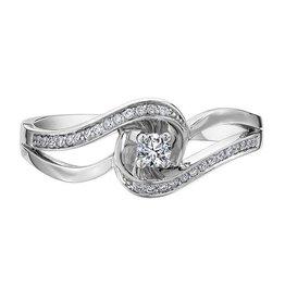 10K White Gold (0.17ct) Diamond Ring