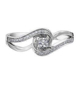 White Gold Diamond Promise Ring (0.17ct)