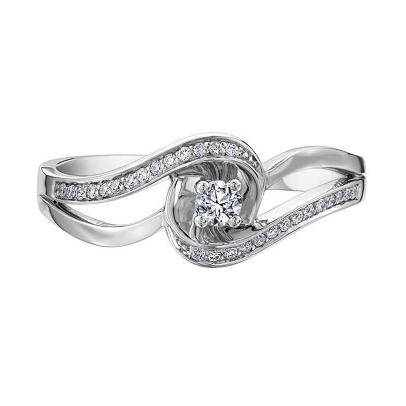 10K White Gold (0.17ct) Diamond Ring