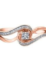 10KRose Gold (0.17ct) Diamond Ring