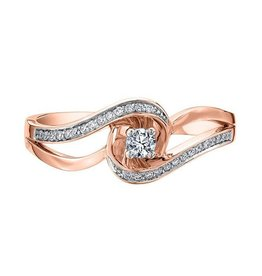 10K Rose Gold (0.17ct) Diamond Ring