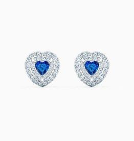 Swarovski Swarovski Stud Earrings, Blue, Rhodium Plated