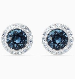 Swarovski Swarovski Angelic Stud Earrings, Blue, Rhodium Plated